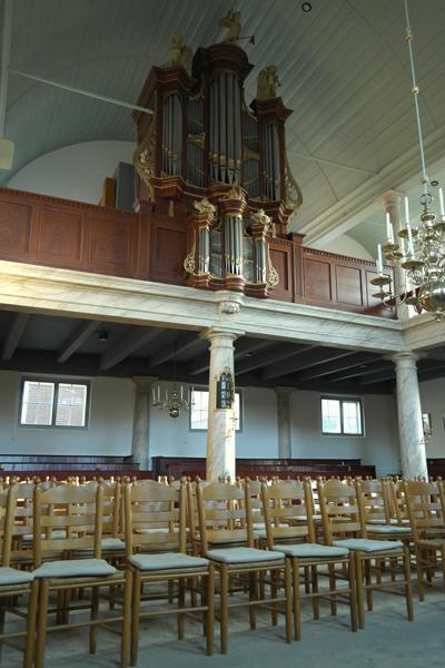 Het Strumphlerorgel van de Remonstrantse Kerk waar de Vrienden op 18 april hun voorjaarsbijeenkomst houden