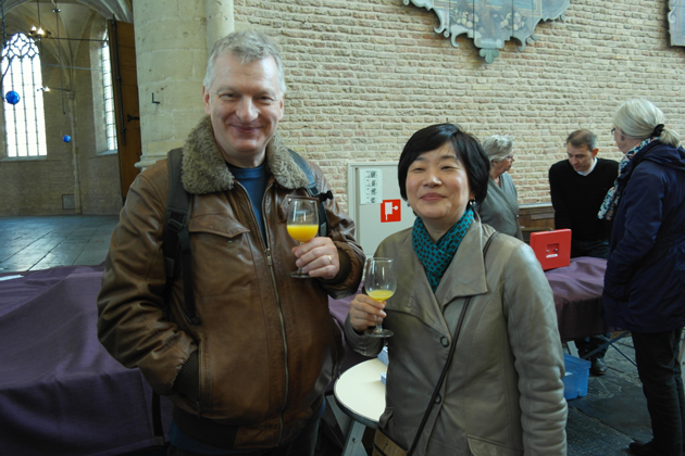 Dick Koomans en zijn vrouw Yu Nagayama (beiden organist en tevens in dienst bij Flentrop Orgelbouw)