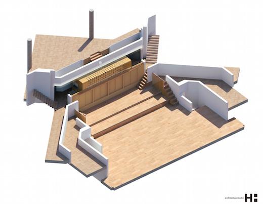 Artistimpression Van Vulpen-orgel TivoliVredenburg | © 2015 beeld Architectuurstudio HH