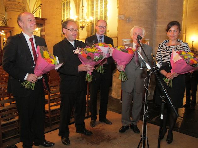 De jury (v.l.n.r.): Jan Hage, David Briggs, Jürgen Essl, Gilbert Amy en Zuzana Ferjencikova | © fotografie Pieter Baak