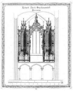 Ibach-orgel Broederenkerk Deventer - ontwerp
