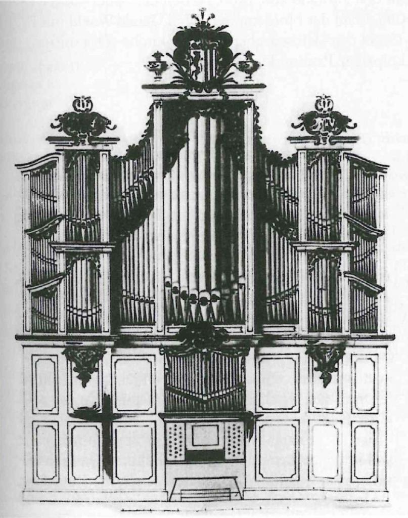 Orgel van de Thomaskerk in Leipzig na de verwijdering van het Rugwerk door J.G. Mauer (1772/73)