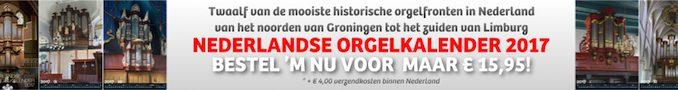 Nederlandse Orgelkalender 2017