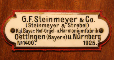 Steinmeyer orgel