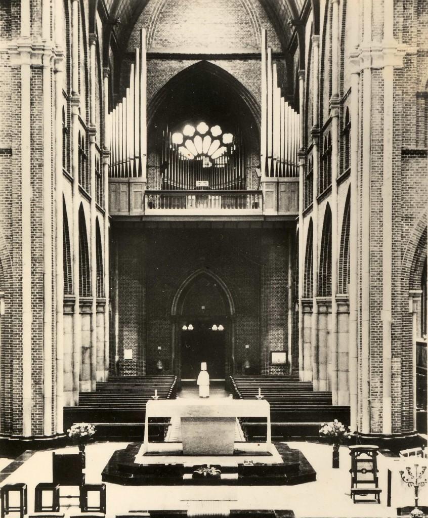 Het Pels-orgel op zijn oorspronkelijk plaats op de koorzolder