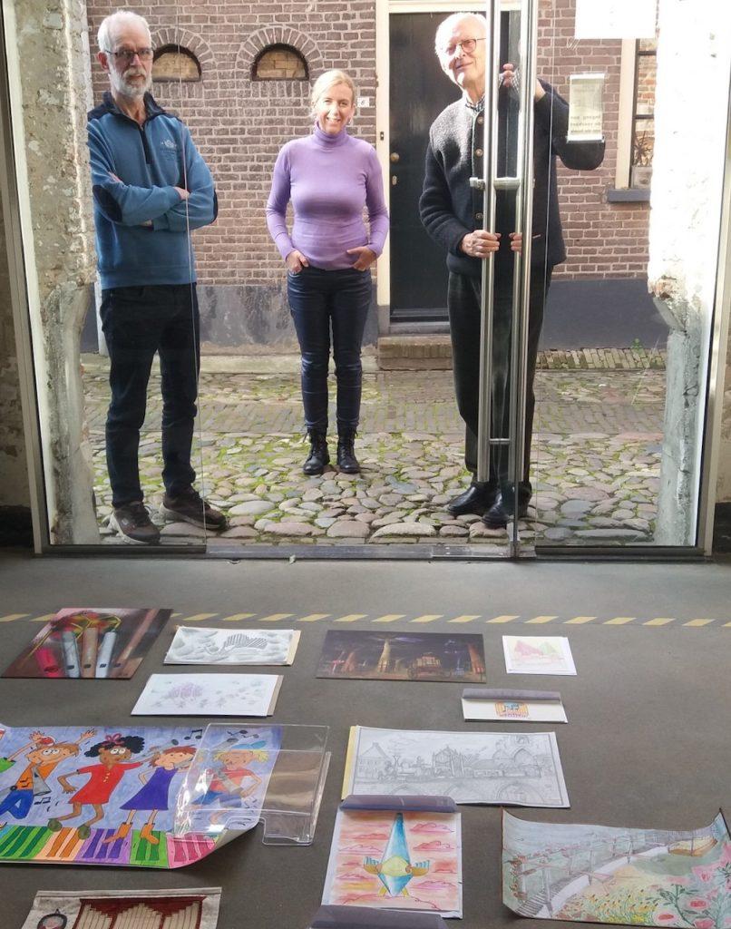 jury van de illustratiewedstrijd van het nationaal orgelmuseum