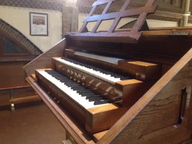 Speeltafel Adema-orgel Uitgeest met derde registerklavier