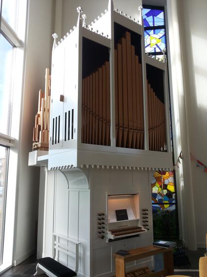 klop-orgel voor kerkelijk centrum bethabar voorthuizen