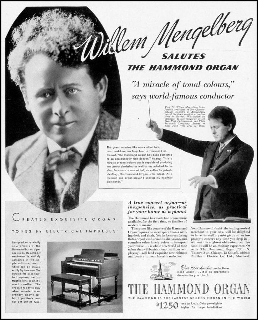 Willem Mengelberg salutes Hammond