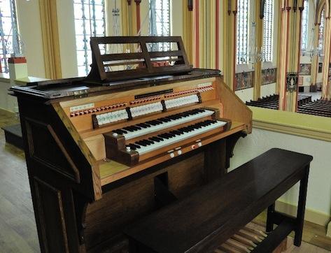 Speeltafel van het Maarschalkerweerd-orgel in de Sint Jeroen te Noordwijk