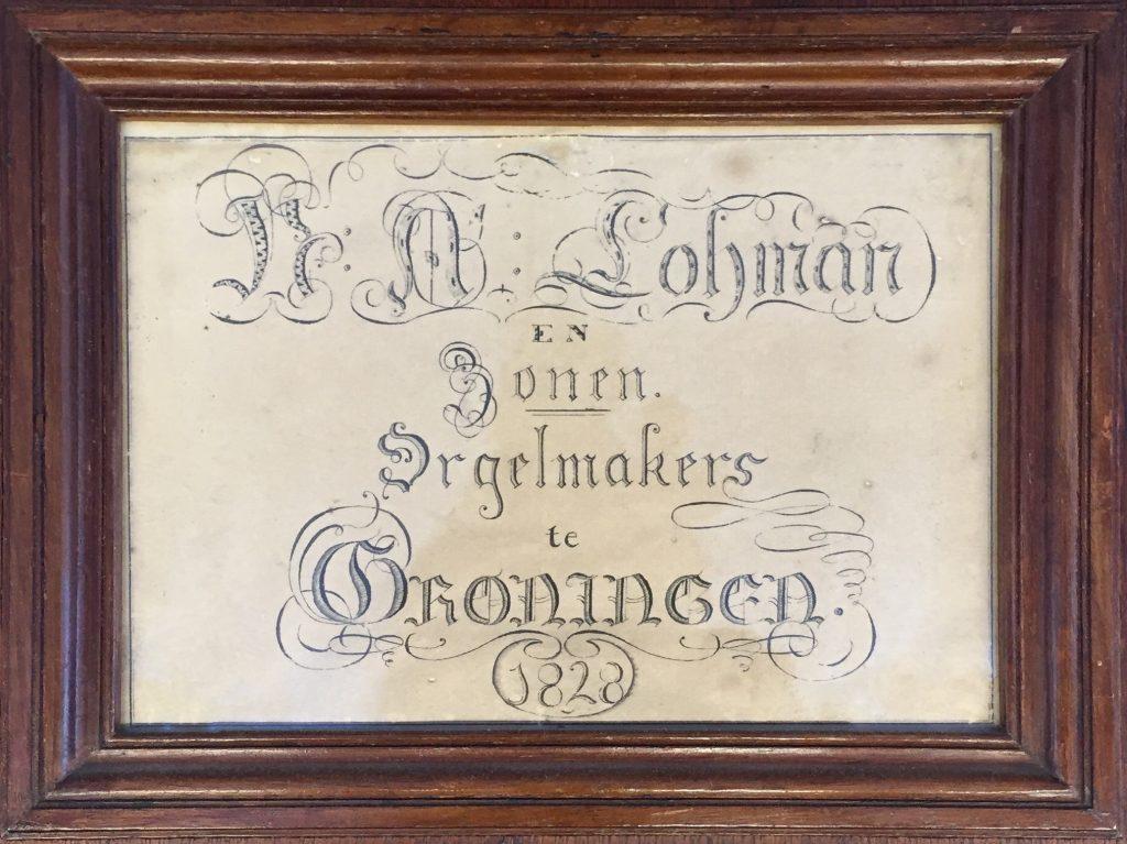 firmaschild lohman orgel farmsum