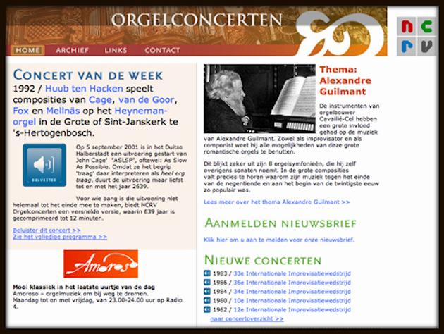 NCRV Orgelconcerten