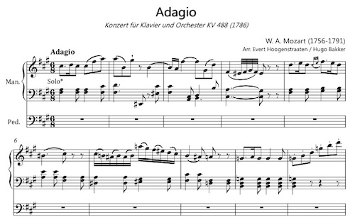 mozart adagio kv 488 arr orgel fragment