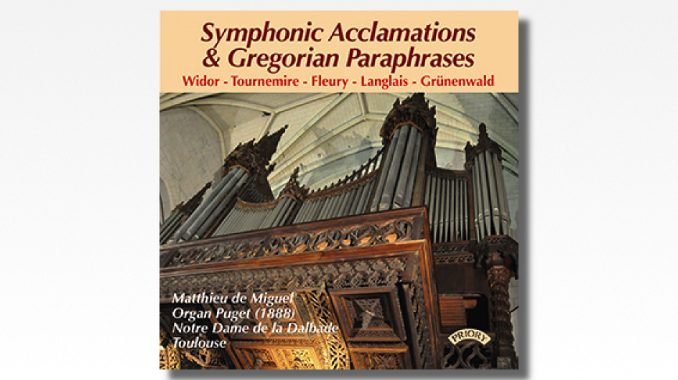 cd symphonic acclamations & gregorian paraphrases