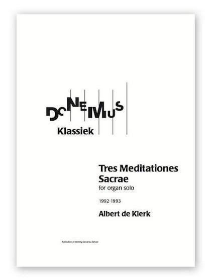 albert de klerk tres meditationes sacrae