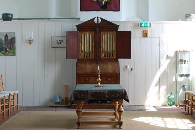 hess-kabinetorgel in de kerk van tolbert