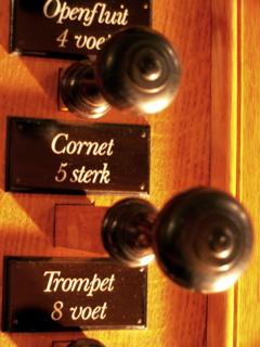 registerknoppen van vulpen orgel nieuwe kerk ede