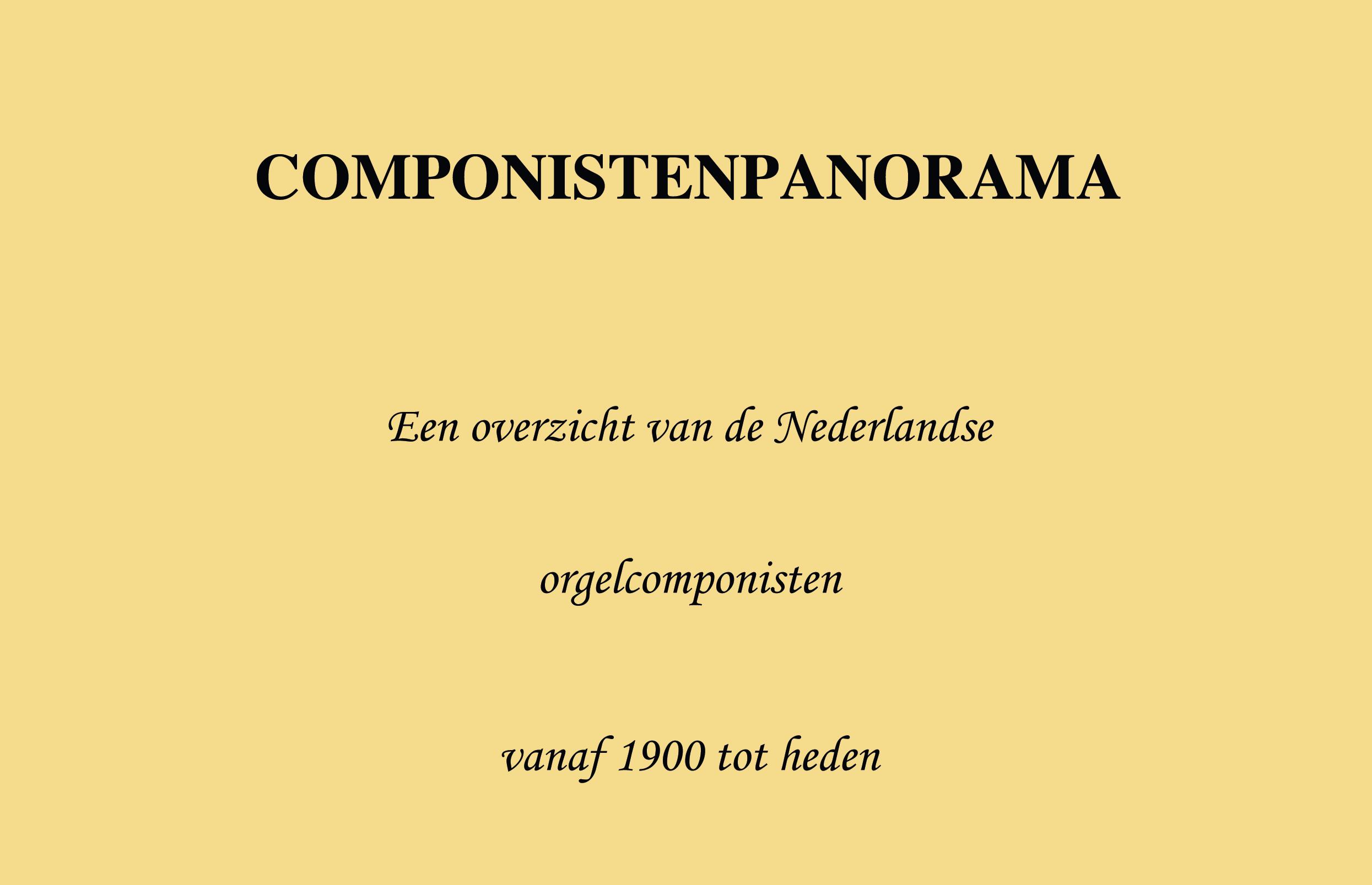 componistenpanorama
