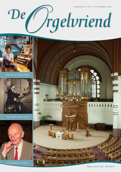 De Orgelvriend november 2015